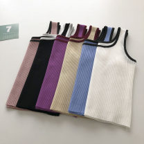 Vest sling Summer 2021 White, blue, purple, black, khaki, pink Average size singleton  have cash less than that is registered in the accounts Self cultivation commute camisole Solid color 18-24 years old 51% (inclusive) - 70% (inclusive)