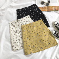 skirt Summer 2020 S,M,L Black, apricot, yellow Short skirt commute High waist Type A 18-24 years old 51% (inclusive) - 70% (inclusive) printing Korean version
