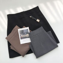 skirt Summer 2021 S,M,L Short skirt commute High waist Solid color Type A 18-24 years old 51% (inclusive) - 70% (inclusive) zipper Korean version