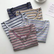 T-shirt Black, white, yellow, blue, pink Average size Summer 2021 Short sleeve square neck Self cultivation have cash less than that is registered in the accounts commute other 51% (inclusive) - 70% (inclusive) 18-24 years old Korean version