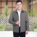 Jacket Business gentleman L/170,XL/175,XXL/180,XXXL/185,XXXXL/190,XXXXXL/195 routine standard go to work autumn Long sleeves Wear out Lapel Business Casual middle age routine Zipper placket 2019 Cloth hem No iron treatment Closing sleeve Solid color More than two bags) polyester fiber