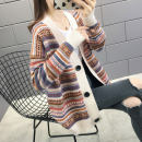 Wool knitwear Autumn 2020 S,M,L,XL Off white, black Long sleeves singleton  Cardigan other 71% (inclusive) - 80% (inclusive) routine commute easy V-neck routine stripe Single breasted Korean version J12959 Autumn blossoms Button