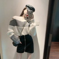 Hat other White sweater, black leather skirt Average size, s, M 25-29 years old 3153#