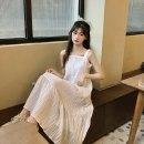 Women's large Summer 2020 White, purple Average size Dress 18-24 years old