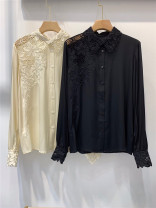 shirt Black, light yellow S,M,L,XL Winter 2020 silk 96% and above Long sleeves commute Regular Polo collar Single row multi button routine Solid color 30-34 years old Straight cylinder Melamiti Britain real silk