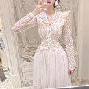 Fashion suit Spring 2021 S,M,L,XL White. Two piece set [in stock], [lace top, you can buy it alone]