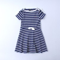 Dress blue female Other / other 2T,3T,4T,5T,6T,6X,7T,8\10T,12\14T,16T Cotton 60% other 40% summer cotton 14, 12, 10, 8, 7, 6, 5, 4, 3, 2