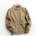 Jacket Other / other other Picture color S,M,L,XL routine standard Other leisure spring Polyester 100% Long sleeves Wear out stand collar Business Casual youth routine Zipper placket 2021 Rib hem Closing sleeve Solid color polyester fiber Rib bottom pendulum Side seam pocket polyester fiber