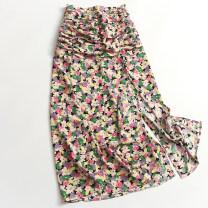skirt Summer 2020 34,36,38,40,42 Picture color Mid length dress High waist 045-021 More than 95% polyester fiber