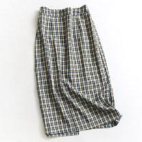 skirt Summer 2021 M, L Casseg, blue longuette Versatile High waist skirt lattice 045-019 71% (inclusive) - 80% (inclusive) polyester fiber pocket