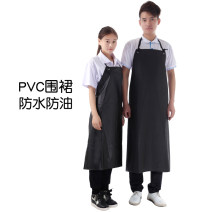 apron Black red is about 110 * 75cm, black red is about 90 * 70cm Sleeveless apron waterproof Simplicity PVC Household cleaning Average size HS36 Xingkai protection public yes Solid color