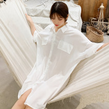 Pajama Top female Other / other M size (80-110kg), L size (110-130kg), XL SIZE (130-150kg), [one time purchase of two pieces can get a discount of 5 yuan], [pay attention to the collection store, take photos and give gifts] E5051 (white), e5051 (Orange), e5051 (black), e5051 (blue), e5051 (green)