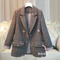 woolen coat Autumn 2020 50. XL, 2XL, 3XL, 4XL, 5XL, large XL [recommended 120-135 kg], large 2XL [recommended 135-150 kg], large 3XL [recommended 150-170 kg], large 4XL [recommended 170-190 kg], large 5XL [recommended 190-210 kg], large 6xl [recommended 205-230 kg] other Medium length Long sleeves