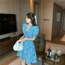 Dress Summer 2021 blue and white porcelain S, M other 18-24 years old Type A other