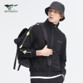 Jacket Septwolves Fashion City routine standard Other leisure spring Long sleeves Wear out stand collar Basic public youth routine Zipper placket Rib hem Color block Rib bottom pendulum Side seam pocket other
