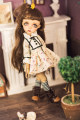 BJD doll zone Dress 1/6 Over 14 years old goods in stock Off white pattern 3.0, 6 points, 4 points, MSD