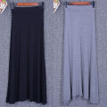 skirt Summer of 2019 Average size [recommended within 130 kg] [big swing skirt] black, [big swing skirt] dark gray, [big swing skirt] light gray longuette Versatile Natural waist A-line skirt Solid color Type A 71% (inclusive) - 80% (inclusive) brocade modal