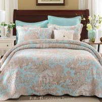 Cotton quilt Other / other 230cmx250cm + 2 pillow case 240cmx260cm + 2 pillow case Air conditioning Quilt / summer cool quilt 75% (including) - 80% (excluding) cotton Quilting plain cloth