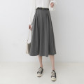 skirt Spring 2021 Average size Grey, black, brown longuette commute High waist A-line skirt Solid color Type A 932ea 51% (inclusive) - 70% (inclusive) other Other / other other Pocket, tridimensional decoration, zipper Korean version