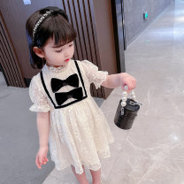 Dress Bow lace skirt female Other / other 90cm,100cm,110cm,120cm,130cm Other 100% summer Korean version Short sleeve lattice other Splicing style 12 months, 3 years, 6 years, 18 months, 9 months, 6 months, 2 years, 5 years, 4 years, 7 years Chinese Mainland