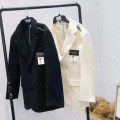 suit Spring 2021 Black, off white, 315 fans welfare Average size Long sleeves routine Straight cylinder tailored collar Single breasted street routine 25-29 years old polyester fiber Button
