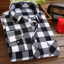 shirt Fashion City Warm love 38,39,40,41,42,43,44,45,46,47,48 routine square neck Long sleeves standard daily Four seasons youth Youthful vigor 2017 lattice Plaid Sanding cotton Button decoration 30% (inclusive) - 49% (inclusive)