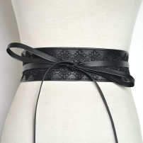 Belt / belt / chain Pu (artificial leather) Red, black, white, off white, brown female Waistband Versatile Double loop bow Lace