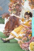 Dress Autumn of 2018 Yellow dress 0, 1 To Alice