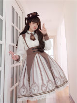 Dress Winter of 2018 Coffee color back belt skirt 0, 1 To Alice