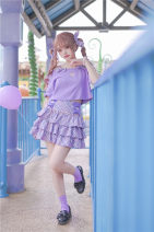 shirt Purple T-shirt - 59 yuan, purple lattice skirt - 109 yuan, love waist chain - 9 yuan, purple lattice Clip - 9 yuan, purple T-shirt 0 yard [only deposit, supplement on June 3], 1 yard [only deposit, supplement on June 3], average yard [only deposit, supplement on June 3] Summer 2021 other