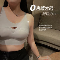 Sports bra Vest style No steel support Black, light silver grey 4XL,L,XL,2XL,3XL,5XL Full cup Fixed shoulder strap Qbxx studio / pencil Xiaoxin Moderate support Winter 2020 Q1234 Solid color No buckle summer nylon One piece