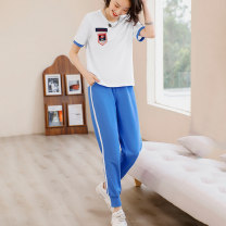 Casual suit Summer 2021 Red vision blue M L XL XXL 25-35 years old Z1XT3127DB Free breath Cotton 100%