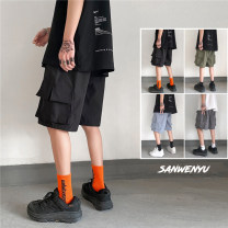 Casual pants Zijun Youth fashion M,L,XL,2XL routine trousers Other leisure easy Micro bomb teenagers like a breath of fresh air 2021 Medium low back Straight cylinder Overalls No iron treatment Solid color