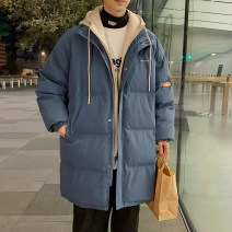 cotton-padded clothes Black, blue, > Click to view size < (select color in front) Zijun M,L,XL,2XL Youth fashion thickening Medium length standard Other leisure Hood youth zipper tide Cloth hem Solid color Side seam pocket other No iron treatment