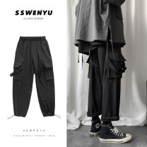 Casual pants Zijun Youth fashion Gray, black, gray plush, black plush, > Click to view the size < (select the color in front) M,L,XL,2XL routine trousers Other leisure easy No bullet winter teenagers tide 2019 Medium low back Little feet Overalls Solid color