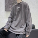 T-shirt Youth fashion Black, white, dark gray, > Click to view size < (select color in front) routine M,L,XL,2XL Zijun Long sleeves Crew neck easy Other leisure autumn teenagers routine tide 2020 printing No iron treatment