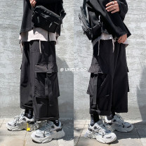 Casual pants Zijun Youth fashion Gray, black, > Click to view size < (select color in front) M,L,XL,2XL routine trousers Other leisure easy spring teenagers tide 2021 Straight cylinder Overalls Pocket decoration