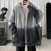 Sweater Youth fashion Zijun White, pink, black, > Click to view size < (select color in front) M,L,XL,2XL other Cardigan routine Hood autumn easy teenagers tide routine cotton zipper No iron treatment zipper