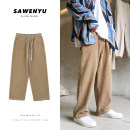 Casual pants Zijun Youth fashion Khaki, black, > Click to view size < (select color before) M,L,XL,2XL routine trousers Other leisure easy Micro bomb autumn teenagers tide 2020 Medium low back Straight cylinder No iron treatment other Domestic non famous brands