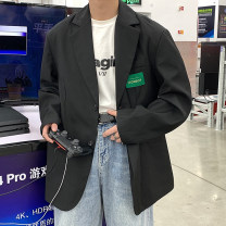man 's suit Black, coffee, > Click to view size < (select color in front) Zijun Youth fashion routine M,L,XL easy Double breasted Other leisure No slits teenagers Long sleeves spring routine like a breath of fresh air Casual clothes Straight hem Solid color Digging bags with lids