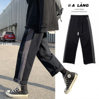 Casual pants Zijun Youth fashion Black, gray, > Click to view size < (select color in front) M,L,XL,2XL routine trousers Other leisure easy No bullet Four seasons teenagers tide 2020 middle-waisted Straight cylinder Sports pants Pocket decoration washing Solid color other cotton