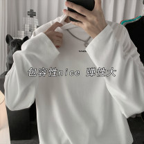 T-shirt Youth fashion Gray, green, orange, black, white, > Click to view size < (select color before) routine M,L,XL,2XL Zijun Long sleeves Crew neck easy Other leisure autumn teenagers routine tide 2020 Solid color printing cotton No iron treatment