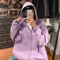 Jacket Zijun Youth fashion Purple, dark gray, dark blue, orange, > Click to view size < (select color in front) M,L,XL routine easy Other leisure autumn Long sleeves Hood tide teenagers routine Zipper placket 2020 No iron treatment Closing sleeve other Side seam pocket