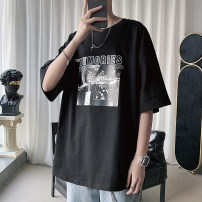 T-shirt Youth fashion routine S,M,L,XL,2XL,3XL,4XL,5XL Zijun elbow sleeve Crew neck easy Other leisure spring teenagers routine like a breath of fresh air 2020 other printing No iron treatment