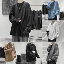 T-shirt Youth fashion Black, blue, gray, white, brown, > Click to view size < (select color before) routine S,M,L,XL,2XL Zijun Long sleeves Crew neck easy Other leisure autumn teenagers routine like a breath of fresh air other 2020 other other other other Domestic non famous brands