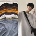 T-shirt Youth fashion Black, white, red, pink, green, dark gray, cyan, purple, blue, orange, brown, > Click to view the size < (select the color above) routine M,L,XL,2XL Zijun Long sleeves Crew neck easy Other leisure spring teenagers routine tide 2021 Solid color