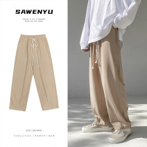 Casual pants Zijun Youth fashion Black, khaki, > Click to view size < (select color in front) M,L,XL,2XL routine trousers Other leisure easy spring teenagers tide 2021 Solid color