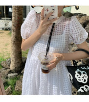 Dress Loose waist Summer 2021 Short skirt Short sleeve Two piece set Solid color Crew neck Condom 25-29 years old A-line skirt routine 91% (inclusive) - 95% (inclusive) Other other S,M