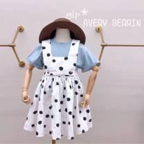 Dress One piece design sense strap skirt in stock, one piece with fog blue T in stock, large size can be parent-child female Other / other 110cm,120cm,130cm,140cm,150cm,160cm Other 100% Four, five, six, seven, eight, nine, ten, eleven, twelve, thirteen, fourteen