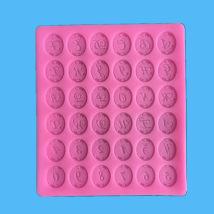 Baking mould Pink Roman alphabet silicone mold Cream girl public Cartoon Japanese